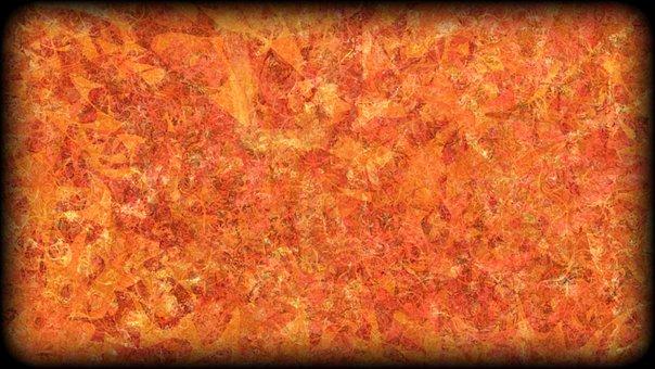 Orange, Abstract, Autumnal, Wallpaper, Pattern