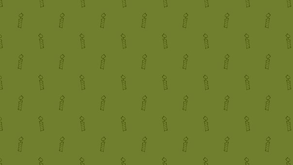 Green, Candles, Candlelights, Wallpaper, Pattern
