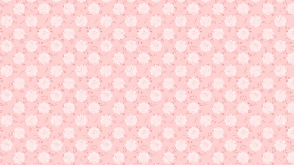 Pink, Clouds, Doodles, Hand-drawn, Wallpaper, Pattern