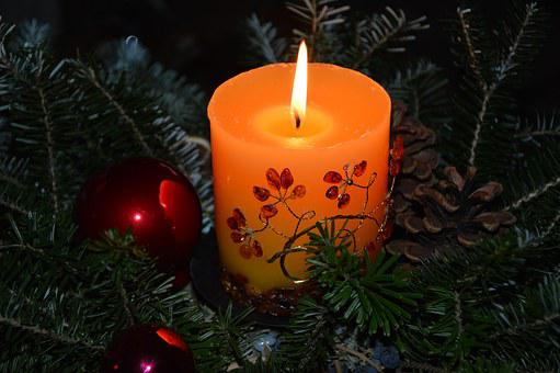 Christmas, Advent, Christmas Flower Arrangement, Candle
