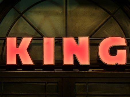 Advertisement, Neon Sign, King, Shield