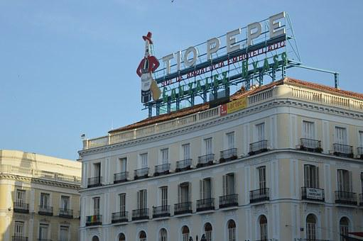 Spain, Castle, Construction, Advertising, Pepe, Rooftop