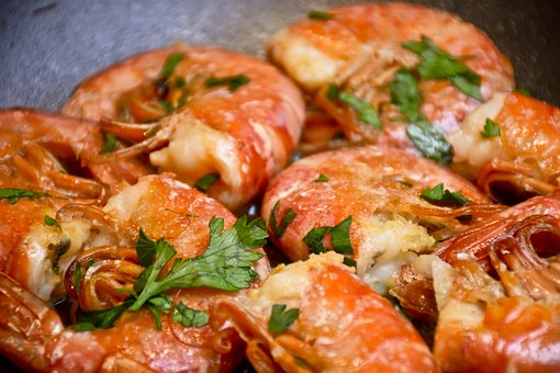 Kitchen, Shrimp, Prawns, Fish, Appetizer, Grid