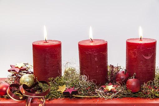 Advent, Third Candle, Before Christmas, Light