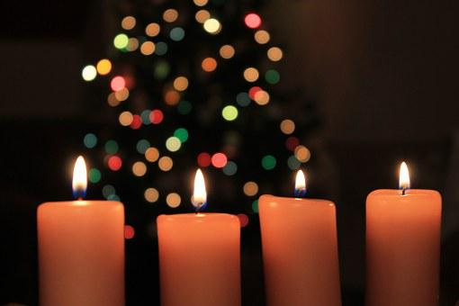 Christmas, Candles, Night, Light, Burning Candle, Flame