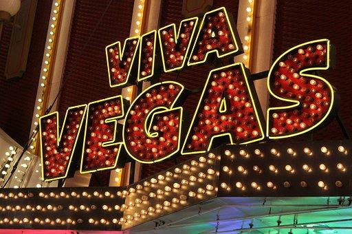Neon, Sign, Viva, Las Vegas, Casino, Illuminated