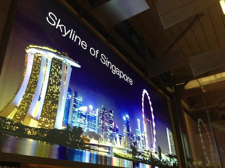 Airport, Advertising, Singapore, Changi, Advertisement