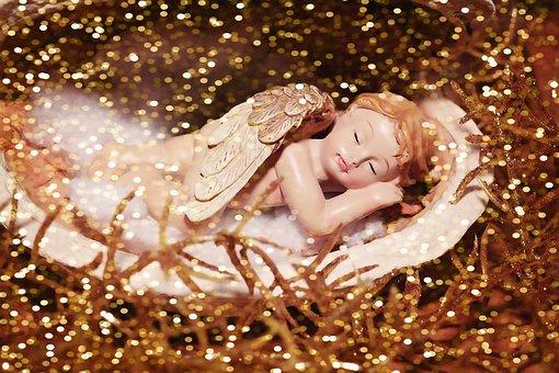 Angel, Clay Angels, Clay Figure, Fig, Sleeping, Small