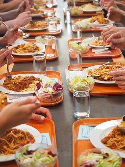Spaghetti, Eat, Canteen, Court, Nutrition