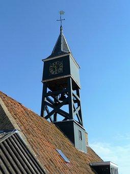Church Tower, Clock, Belfry, Weather Vane, Dial, Church