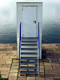 Stadtparksee, Lake, Door, Stairs, Stone Tiles