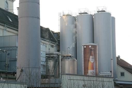 Brewery Plant, Brewery, Factory, Brewery Gold Ox, Ulm