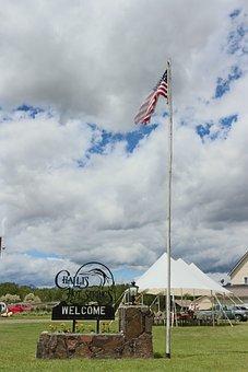American Flag, Flag, Patriotism, Farm, Independence