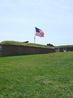 Fort Mchenry, Mchenry, Cannon, American, America