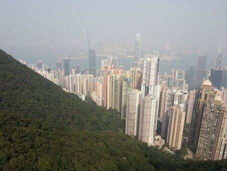 Skyline, Hong Kong S A R, Skyscrapers, High Buildings