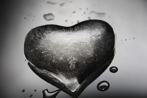 Heart, Ice, Cold, Winter, Christmas, Advent, Frozen