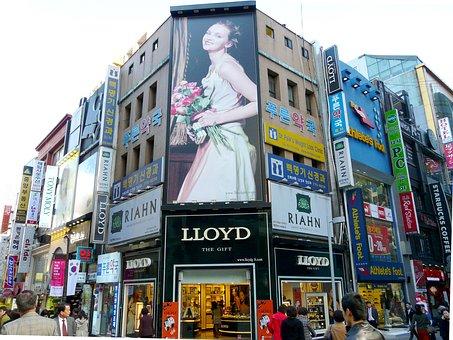 Illuminated Advertising, Street, Fashion Street