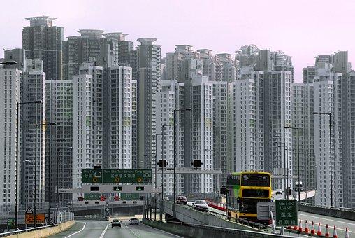 China, Hong Kong, Skyscraper, Landscape, Pollution