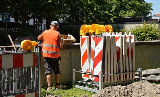 Site, Marking Work, Barrier, Workers