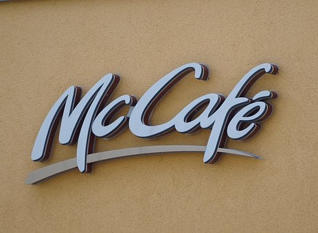 Mccafe, Mcdonalds, Advertisement, Neon Sign