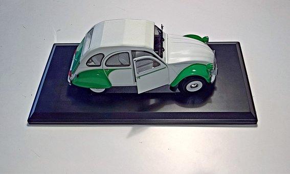Auto, Model Car, Citroen, 2 Cv, Duck, Dolly