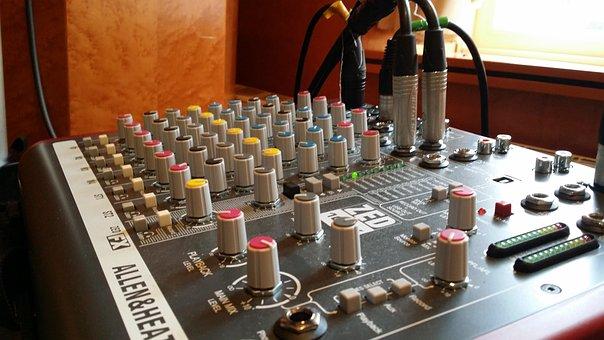 Mixer, Music, Dj, Audio, Controller, Desk, Slider