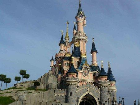 Disney, Paris, Disney Castle, Castle, Cinderella, Magic