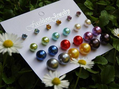 Earrings, Pearls, Colors, Rhinestones, Jewelry, Fashion