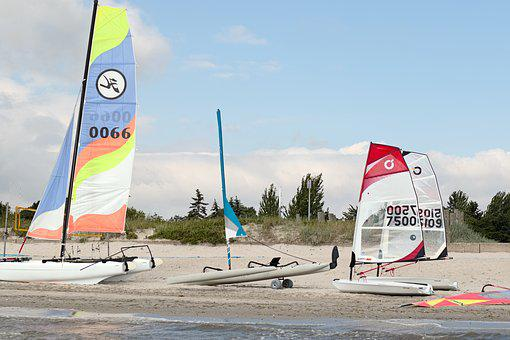Surfschule, Surf, Sail, Boot, Sailing Boat, Baltic Sea