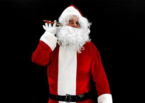 Santa, Santa Claus, Santa Clause, Phone, Telefongespäch