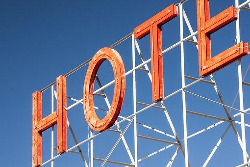 Hotel, Sign, Advertising, Neon Advertising