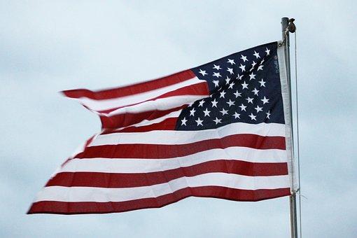 American Flag, Patriotism, Wave, Sky, American, Flag