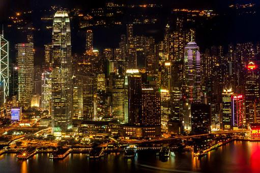 Hong Kong, City, Skyscrapers, The City Centre, Traffic