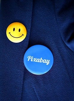 Button, Badges, Font, Smiley, Pixabay, Thank You, Pin