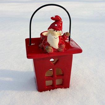 Imp, Tea Light Holder, Christmas, Snow, Advent
