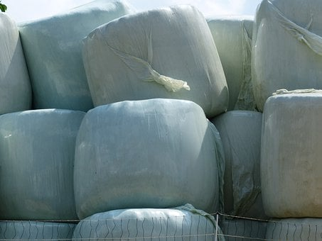 Hay Bales, Straw Bales, Agriculture, Plastic