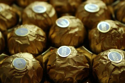 Ferrero Rocher, Chocolate, Candy, Sweets