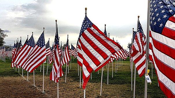 American Flag, Usa Flag, Symbol, Usa, National, Red