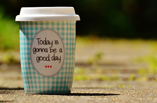 Beautiful Day, To Go, Joy, Coffee, Cup, Happy