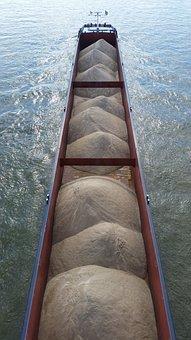 Riverboat, Cargo, Ship, Transportation, Industry, Barge