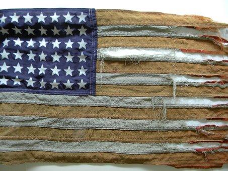 Tattered Flag, Old Glory, Vintage Flag, America