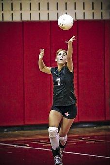 Volleyball, Serve, Girl, Ball, Player, Athlete