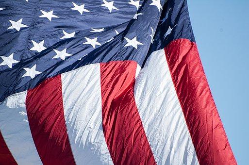 American Flag, Flag, Flag Waving, Red, White, Blue