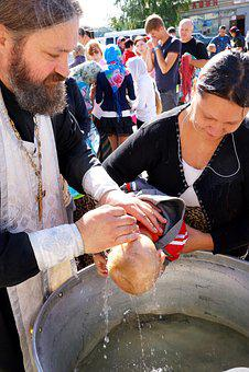 Church, Orthodoxy, Baptism, Boy, Woman, Orthodox Priest