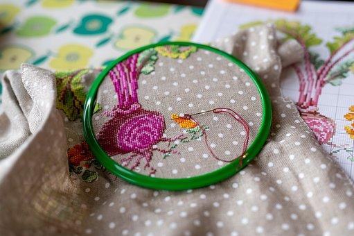 Embroidery, Needlework, Cross Stitch, Cross Stitching