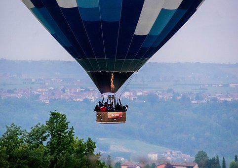 Hot Air Balloon, Travel, Sky, Floating, Flying, Freedom