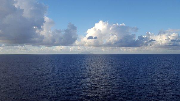 Clouds, Sea, Ocean, Seascape, Sky, Nature, Water