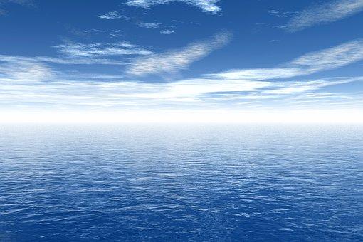 Sky, Blue, Sea, Ocean, Open Sea, Open Water, Blue Water
