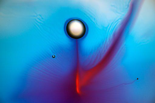 Fluid, Planet, Watercolor, Painting, Art, Projection