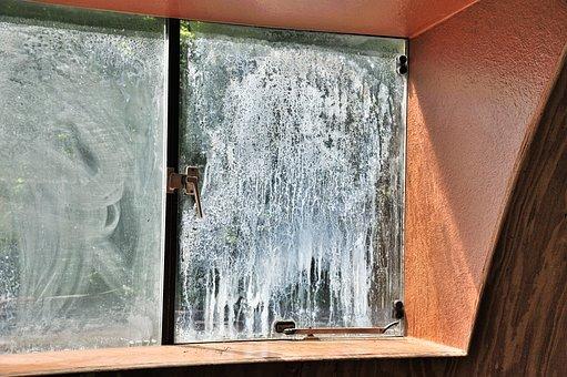 Glass, Window, Interior, Droplets